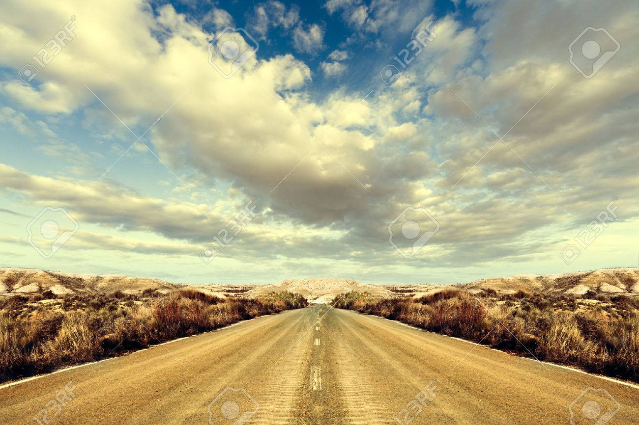 Road and landscape. Road Trips around the world - 26870476