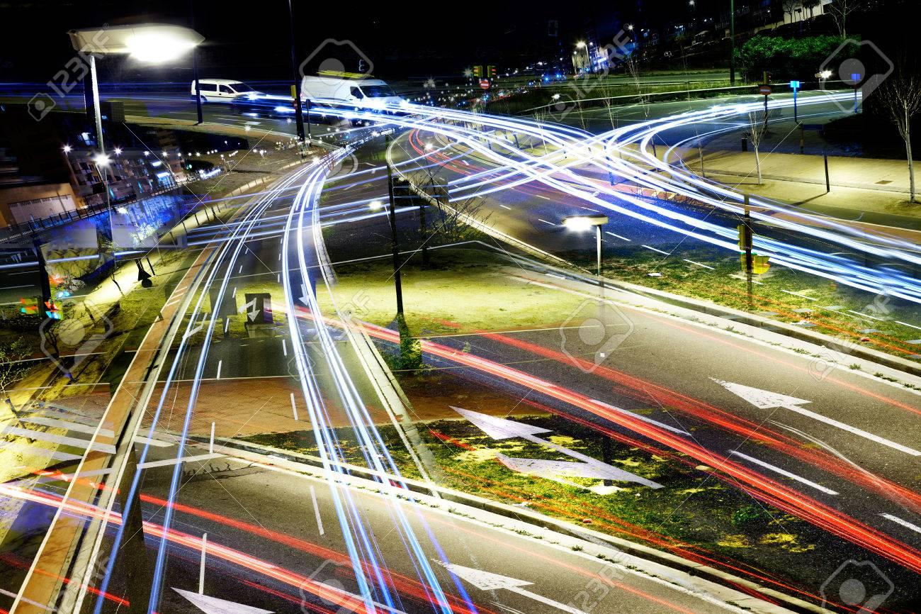 Abstract City lights at night - 41062617