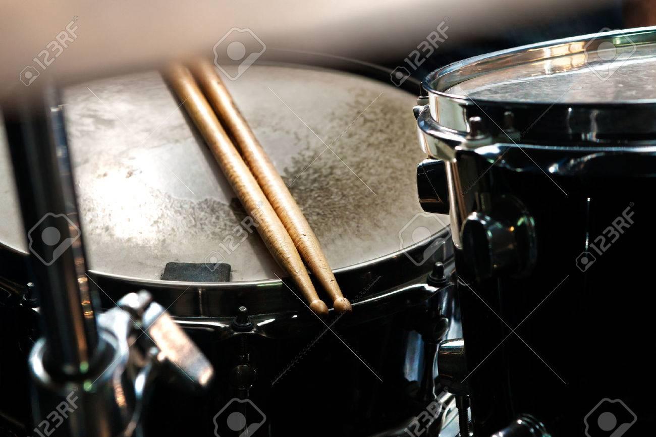 Music background.Drum close up image. - 41062653