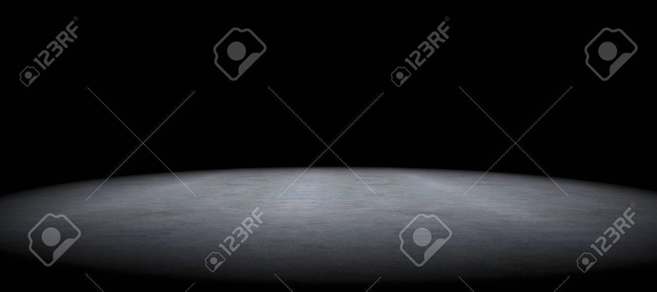 Cement floor background and spot light.Between darkness - 50030435