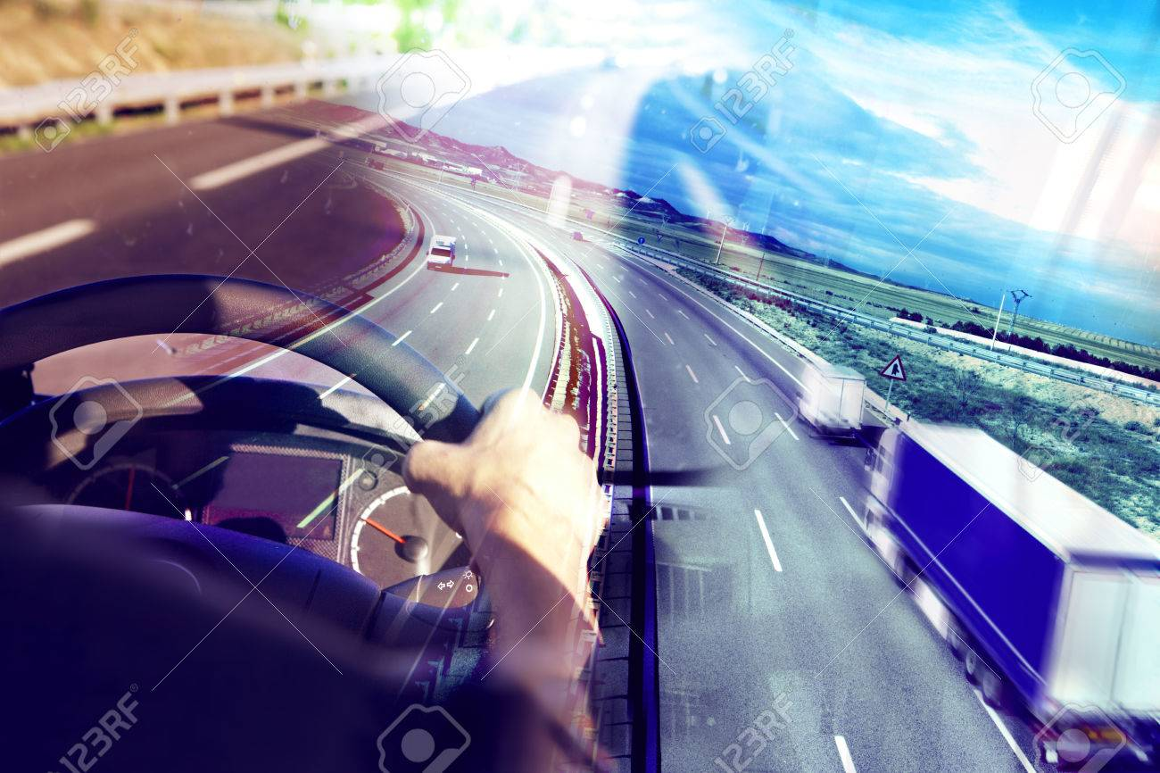 Abstract background Trucks and transport.Highway and delivering. - 50030410