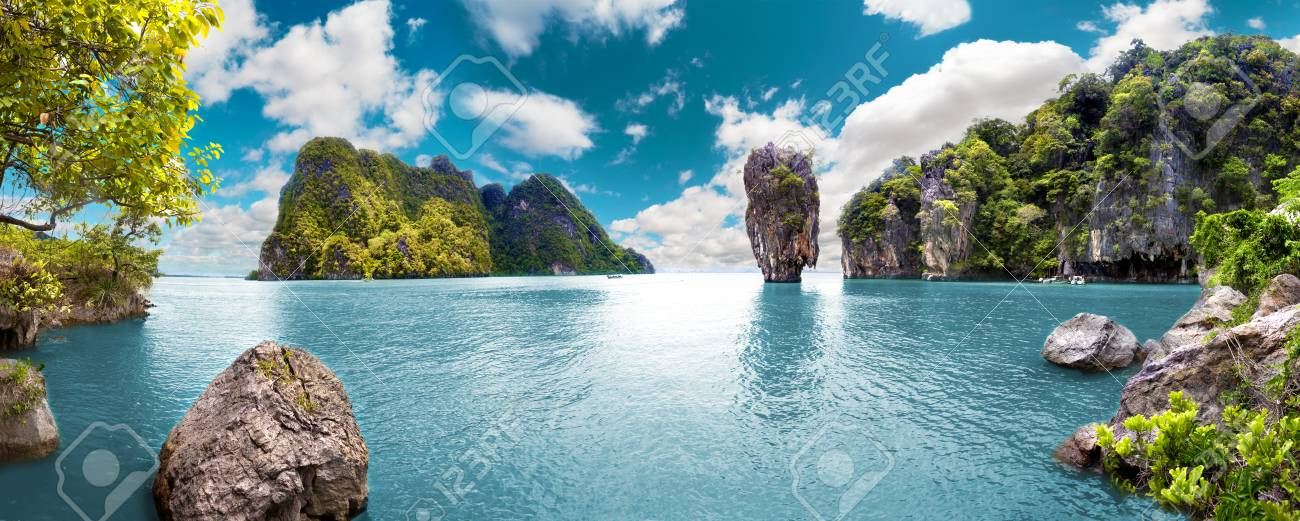 Scenery Thailand sea and island .Adventures and travel concept - 90651423