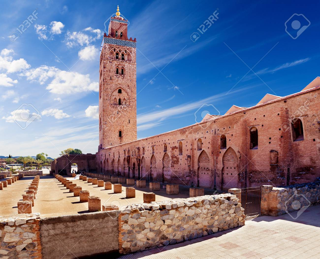 Travel Concept Around The World Koutoubia Mosque Marrakech Stock Photo Picture And Royalty Free Image Image 90651129