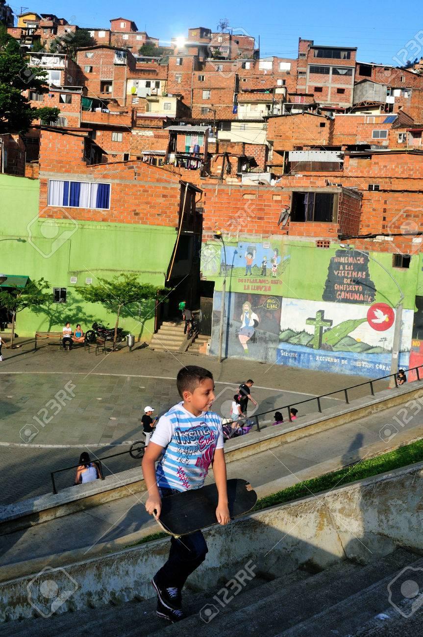 Santo Domingo district in MEDELLIN .Department of Antioquia. COLOMBIA Stock Photo - 23140926