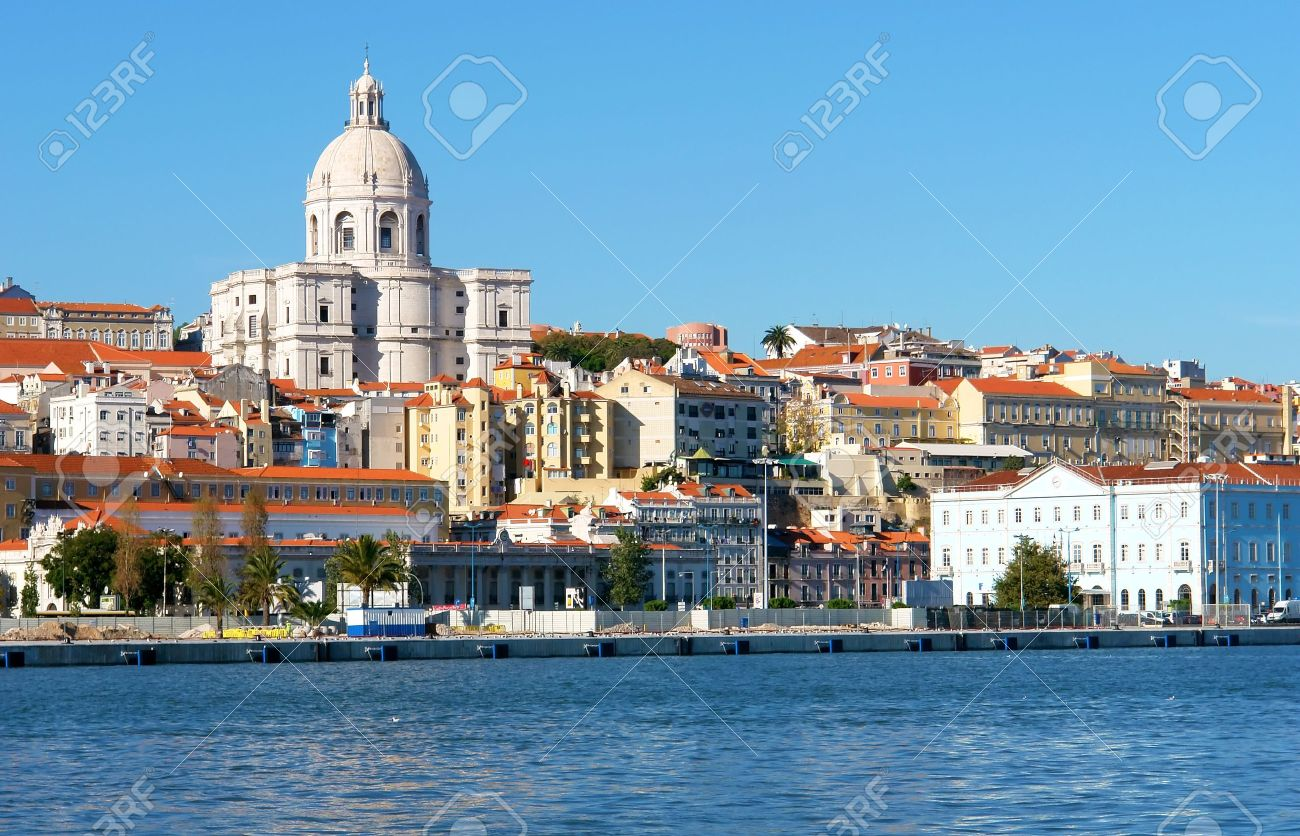 Famous National Pantheon in Lisbon, Portugal  View from Tagus river Stock Photo - 14991387