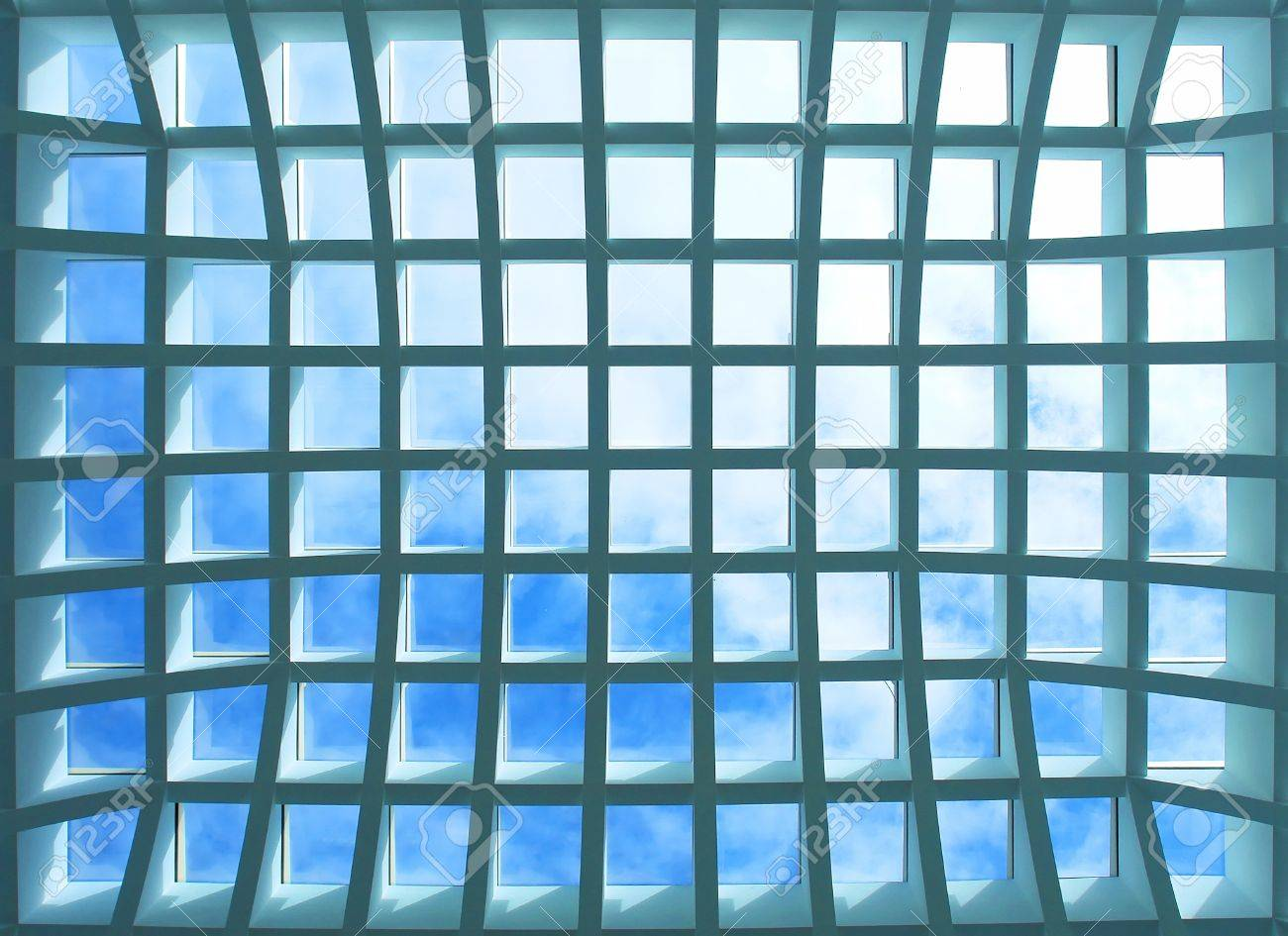 Geometric pattern ceiling of office building Stock Photo - 15440178