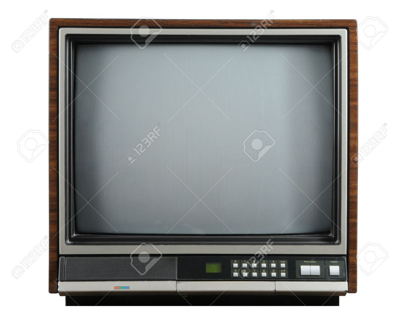 Vintage television isolated on a white background Stock Photo - 7774232