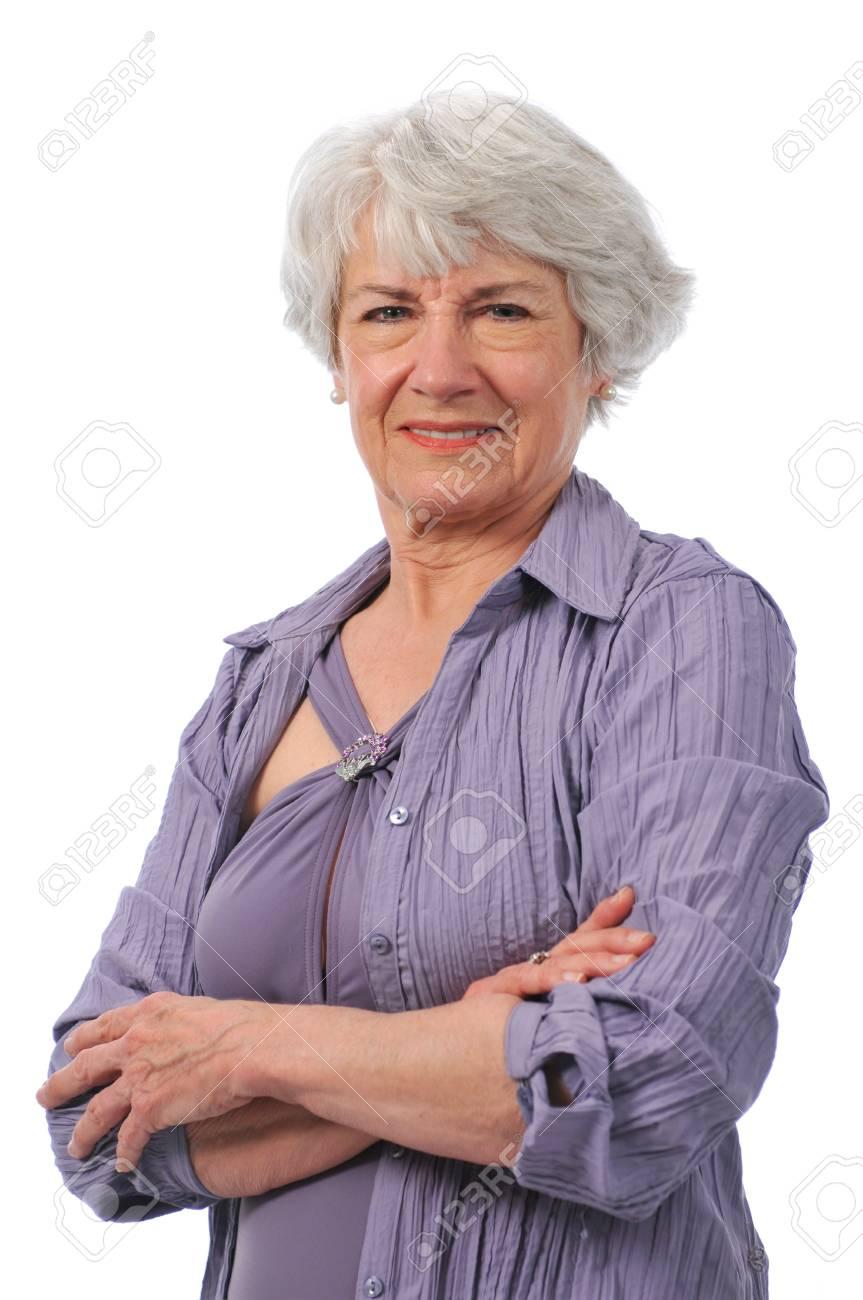 Active Senior lady wearing swimming suit Stock Photo - 7796642