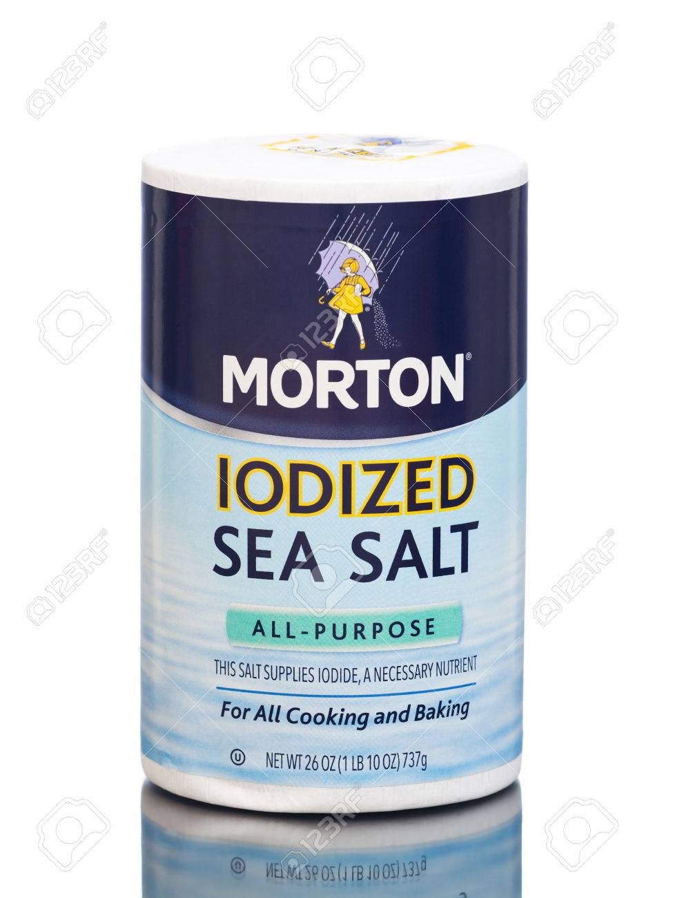 MIAMI, USA - March 30, 2015: A package of Morton Salt Iodized