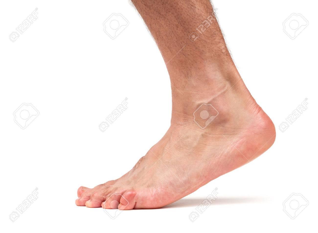 Bare male foot walking - 47839903