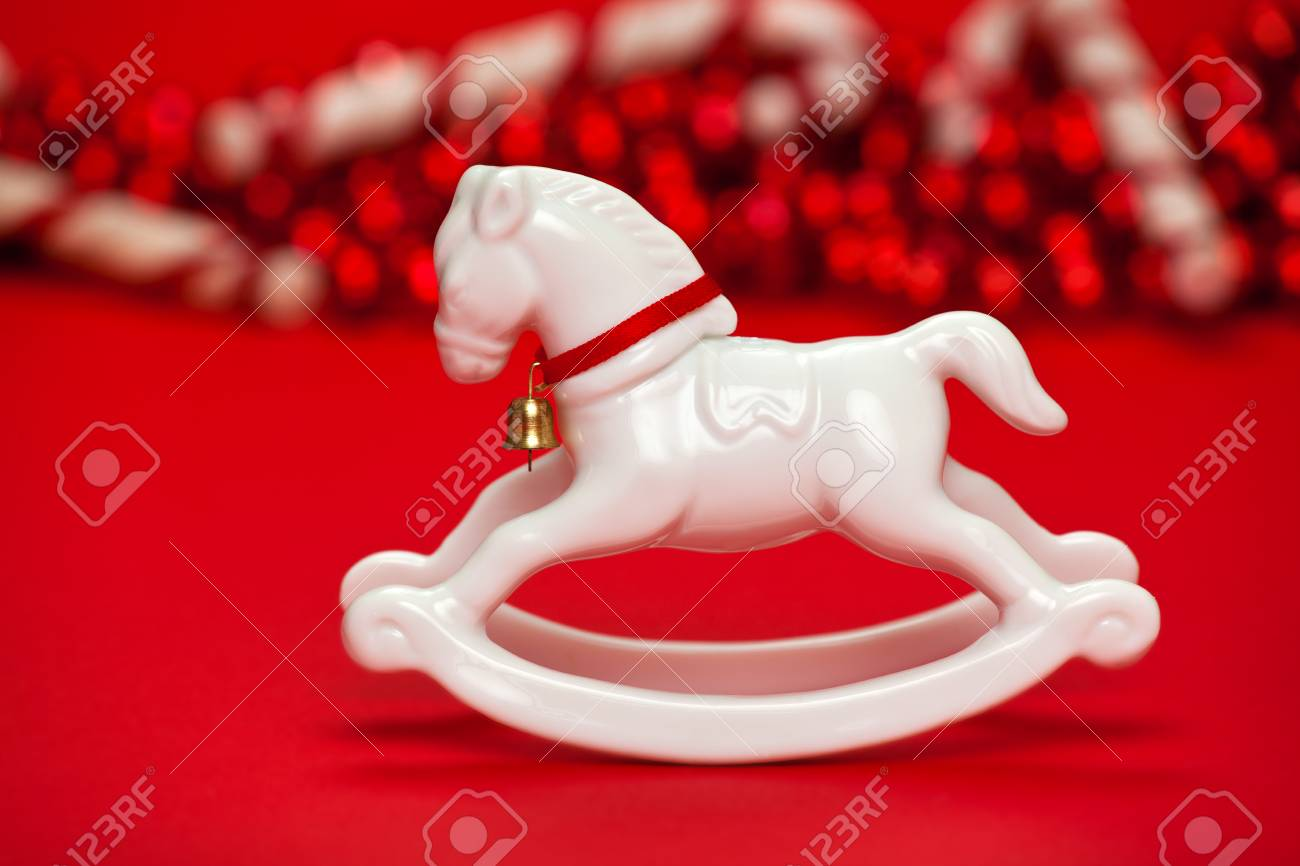 White Horse Christmas Ornament Stock Photo Picture And Royalty Free Image Image 47746628