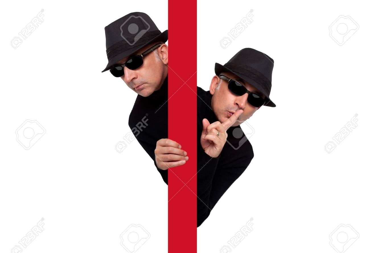 Man criminal expressive spy - 47767399