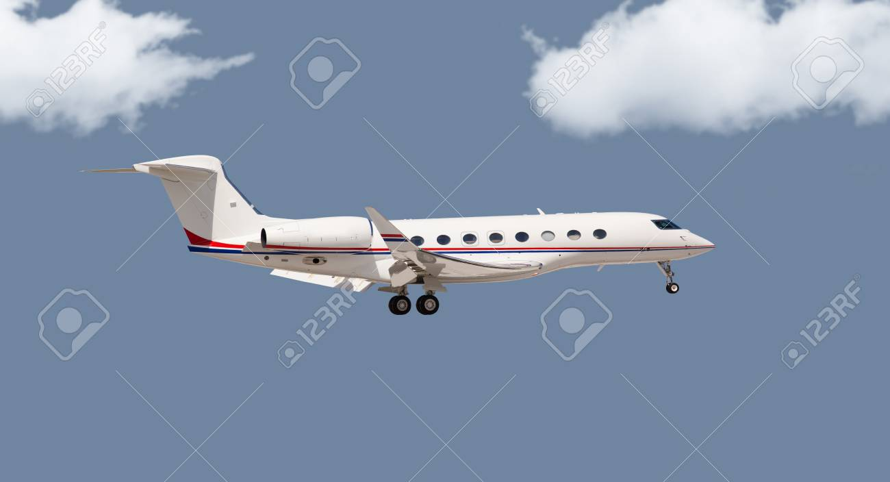 Private jet in the air - 55204325