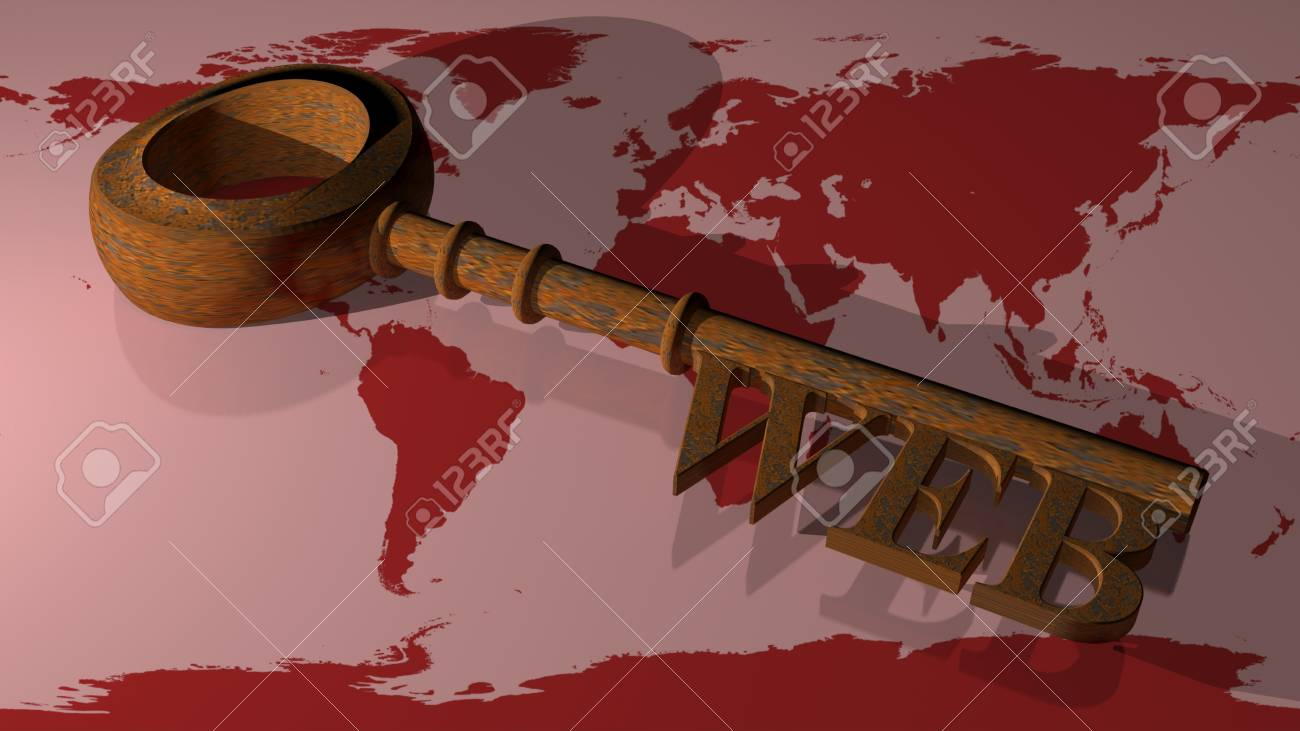 WEB Rusty key Stock Photo - 21028554