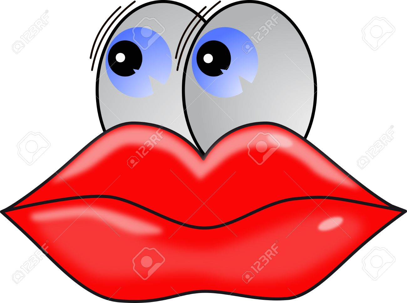 Big Lips And Eyes Cartoon Character Stock Photo Picture And Royalty