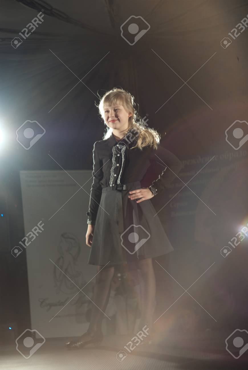 Belarus Fashion Week. Child Fashion. 17 december 2011 Stock Photo - 11729747