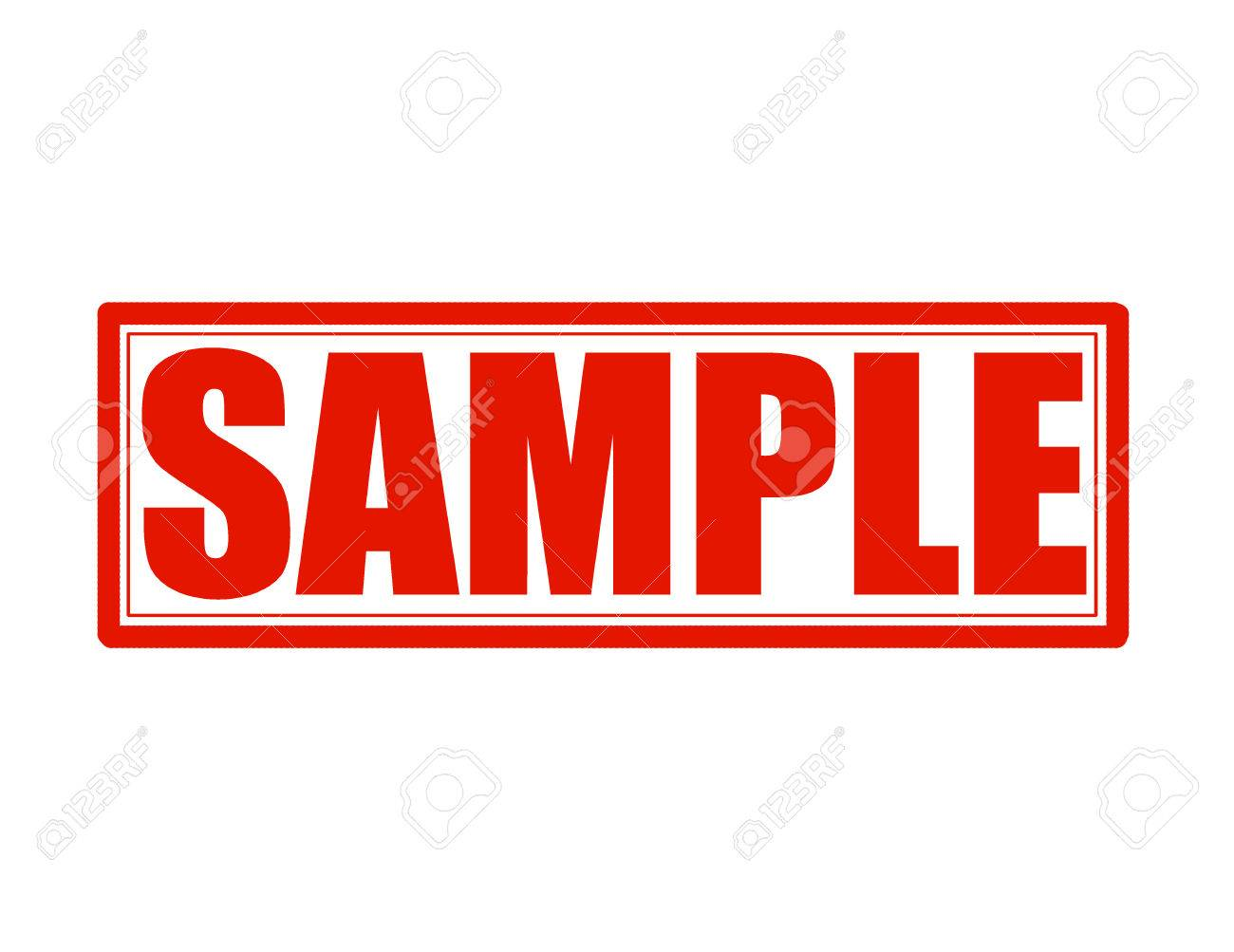 stamp with word sample inside vector illustration royalty free