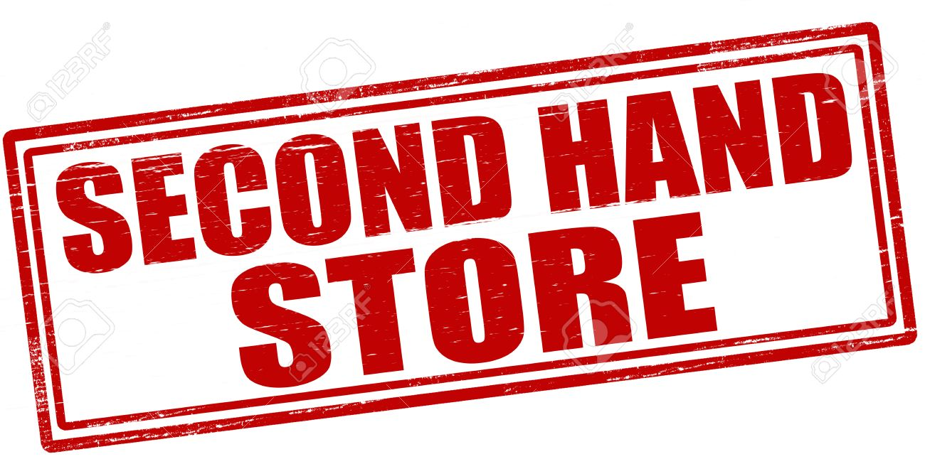 stamp with text second hand store inside vector illustration