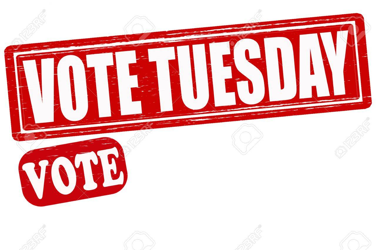 Vote Tuesday >> Stamp With Text Vote Tuesday Inside Vector Illustration Royalty