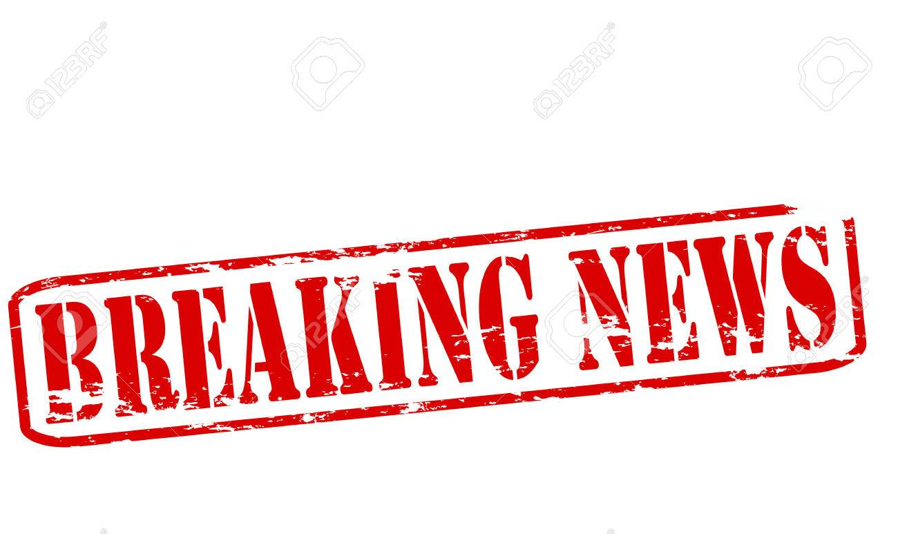 Rubber Stamp With Text Breaking News Inside Vector Illustration Stock
