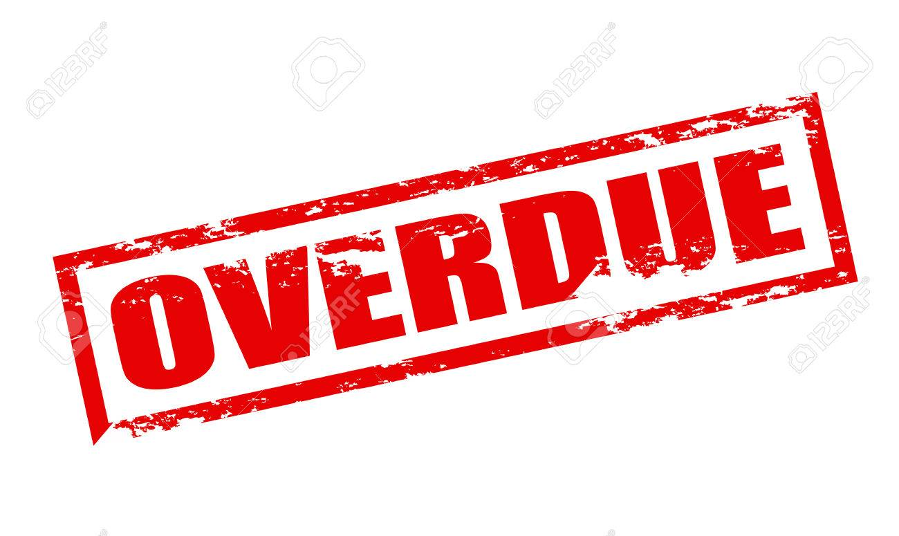rubber stamp with word overdue inside vector illustration royalty