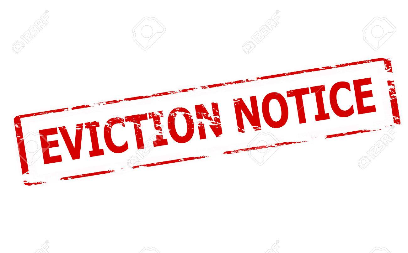 Rubber Stamp With Text Eviction Notice Inside Vector Illustration – Eviction Notice