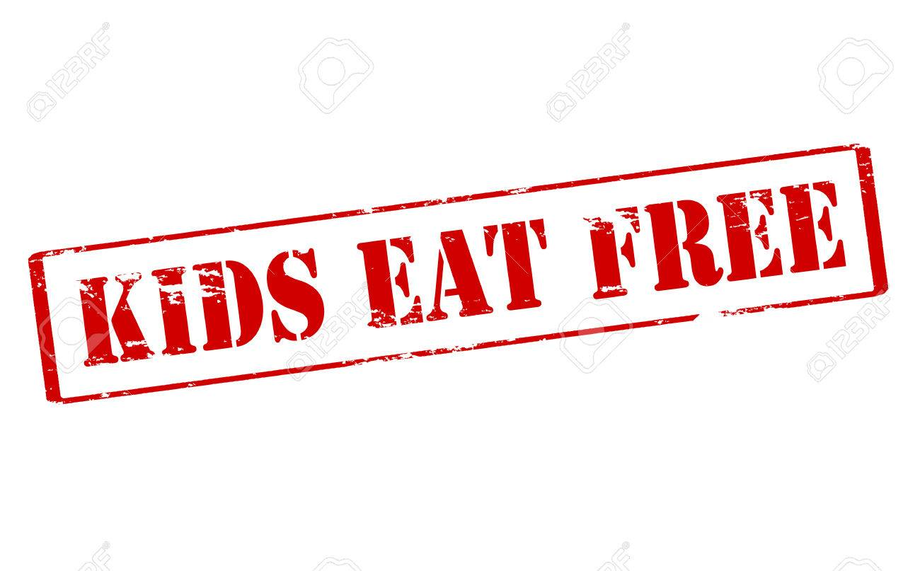 Rubber Stamp With Text Kids Eat Free Inside Vector Illustration Stock