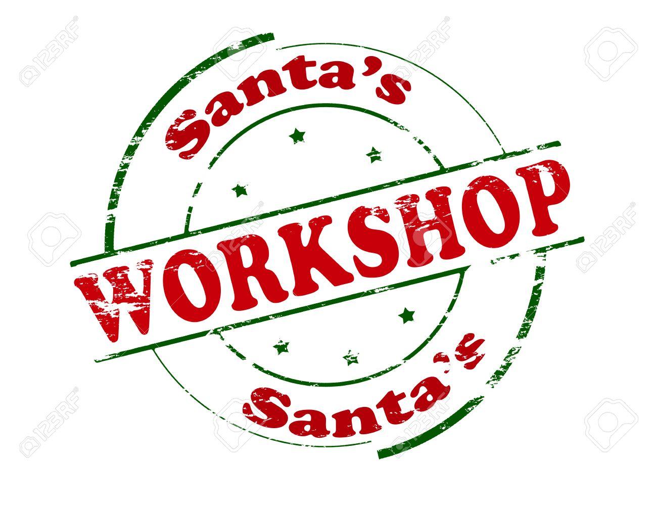 Rubber Stamp With Text Santa Workshop Inside, Vector Illustration ...