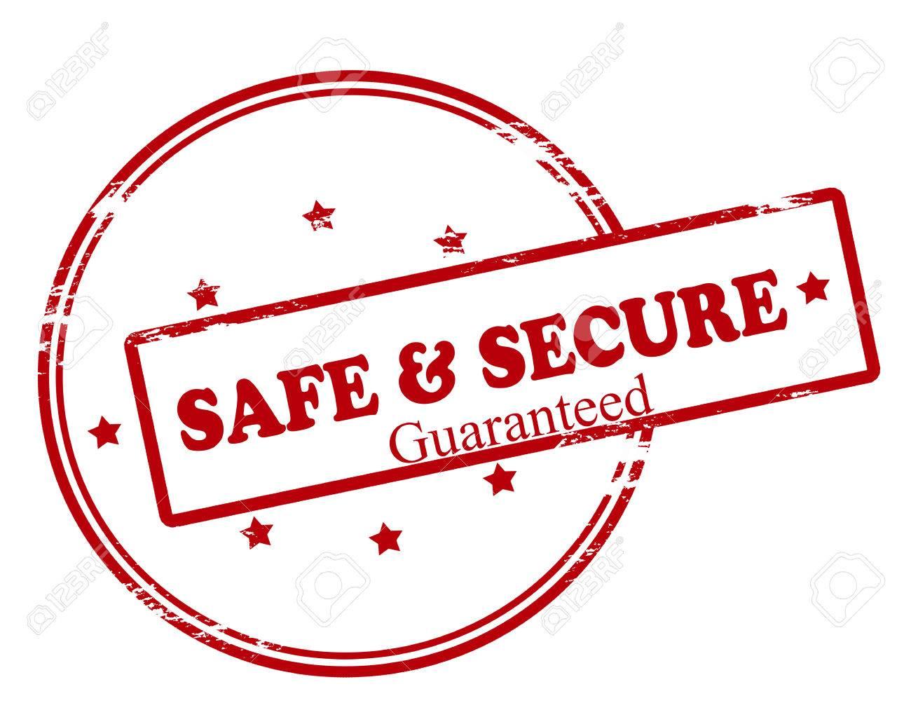 スタンプ テキスト安心・安全な保証内、ベクトル イラスト ロイヤリティ