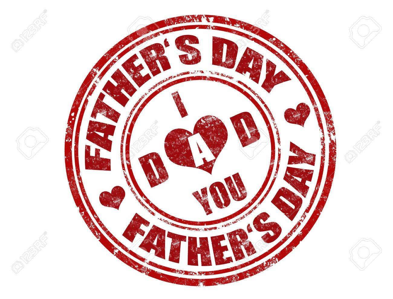 grunge rubber father day stamp Stock Vector - 11359090