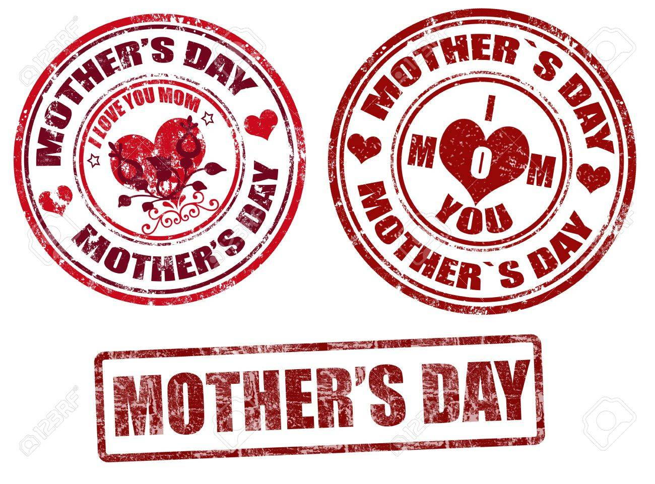 Set of grunge rubber stamps with mother s day inside,vector illustration - 12508160