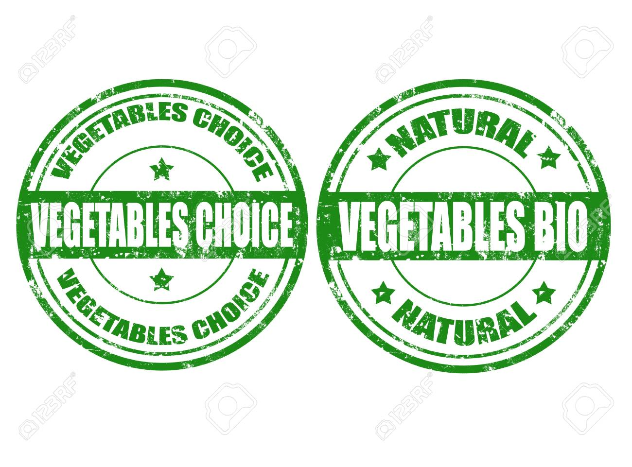 Set of grunge rubber stamps with word vegetables inside, illustration Stock Vector - 18660838