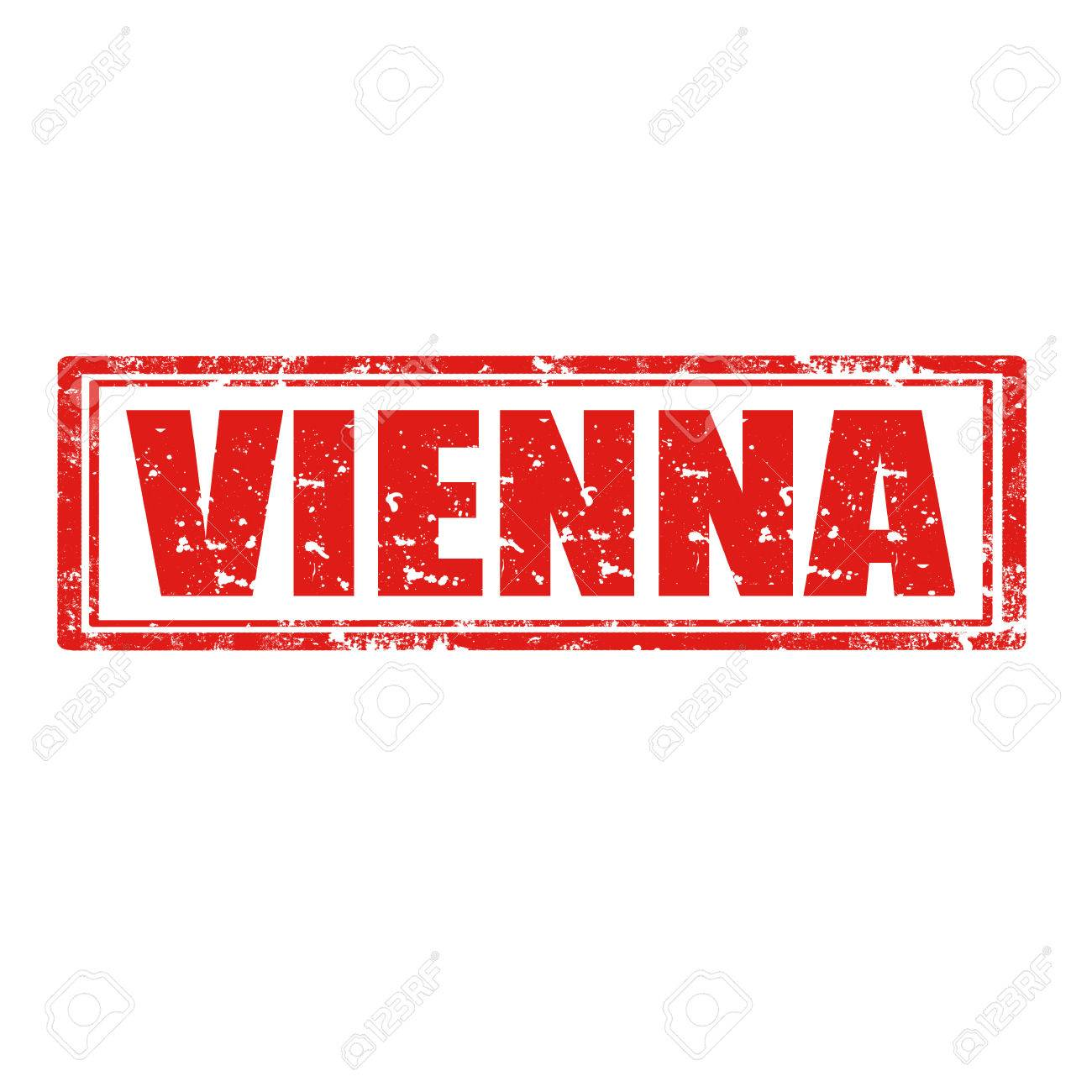 Grunge rubber stamp with word Vienna Stock Vector - 22457371