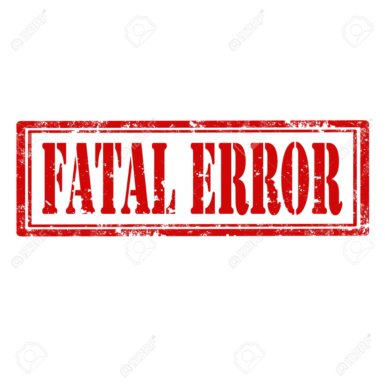 Grunge rubber stamp with text Fatal Error illustration Stock Vector - 25523507