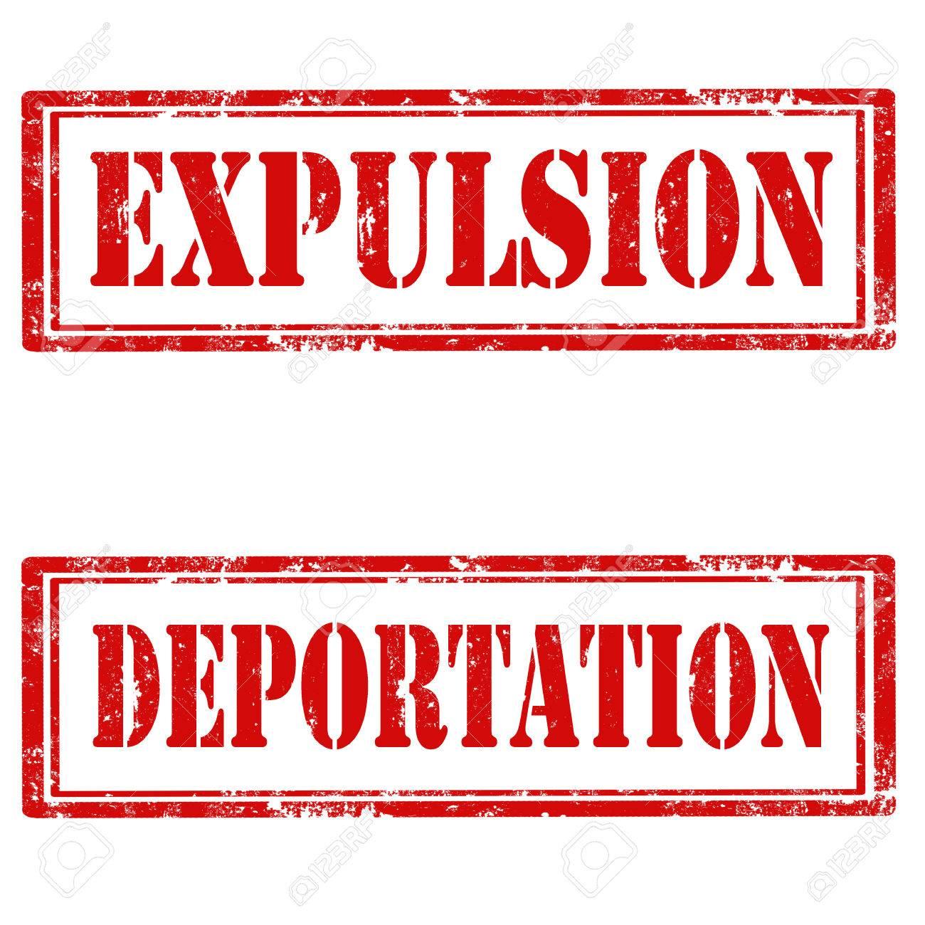 1 DE MAYO - SALIDA A SAN PEDRO - RUTA -HORARIOS-PUNTOS DE ENCUENTRO - Página 2 41727296-Set-of-grunge-rubber-stamps-with-text-Expulsion-and-Deportation-vector-illustration-Stock-Vector