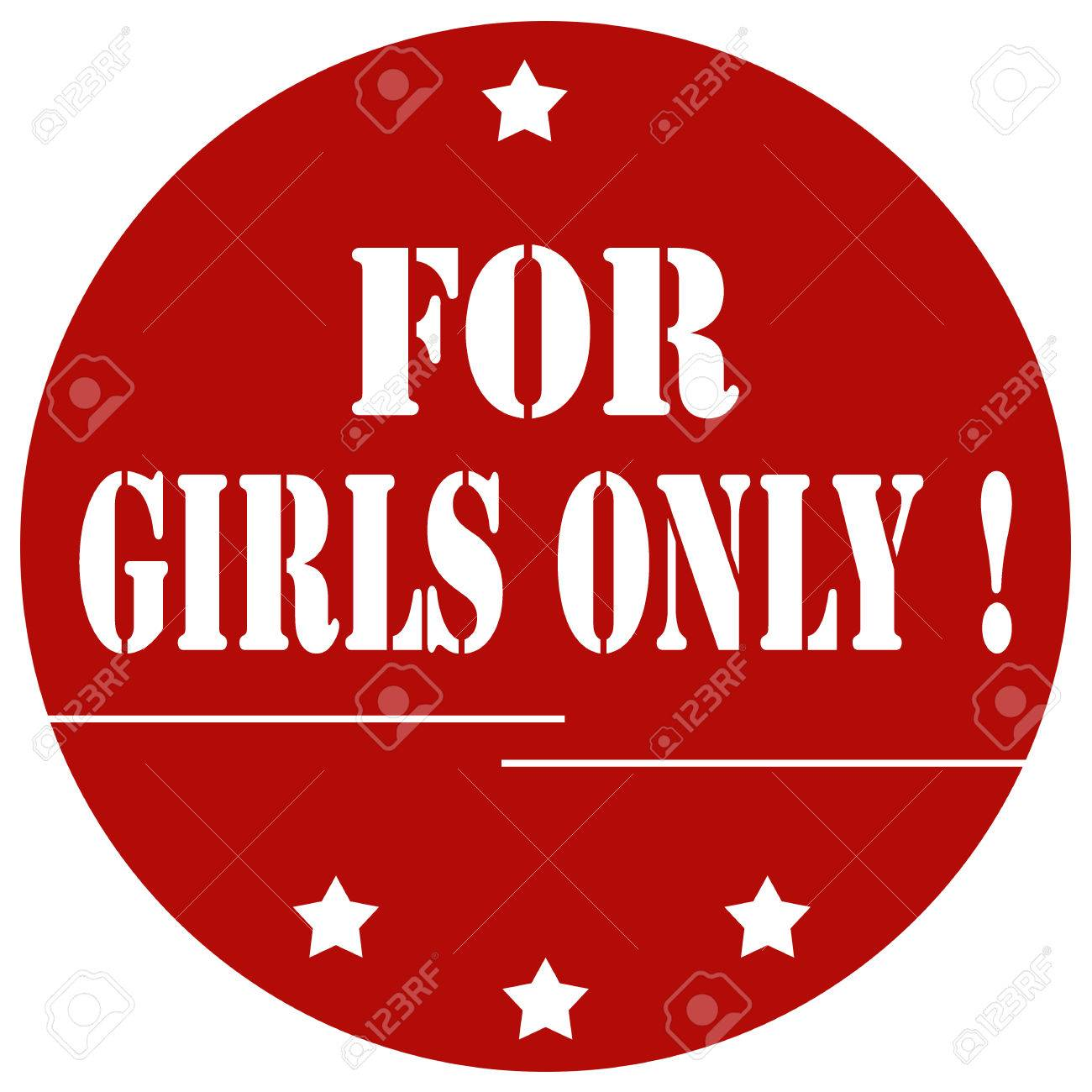 red stamp with text for girls only illustration royalty free rh 123rf com Hobbies Clip Art Scroll Clip Art