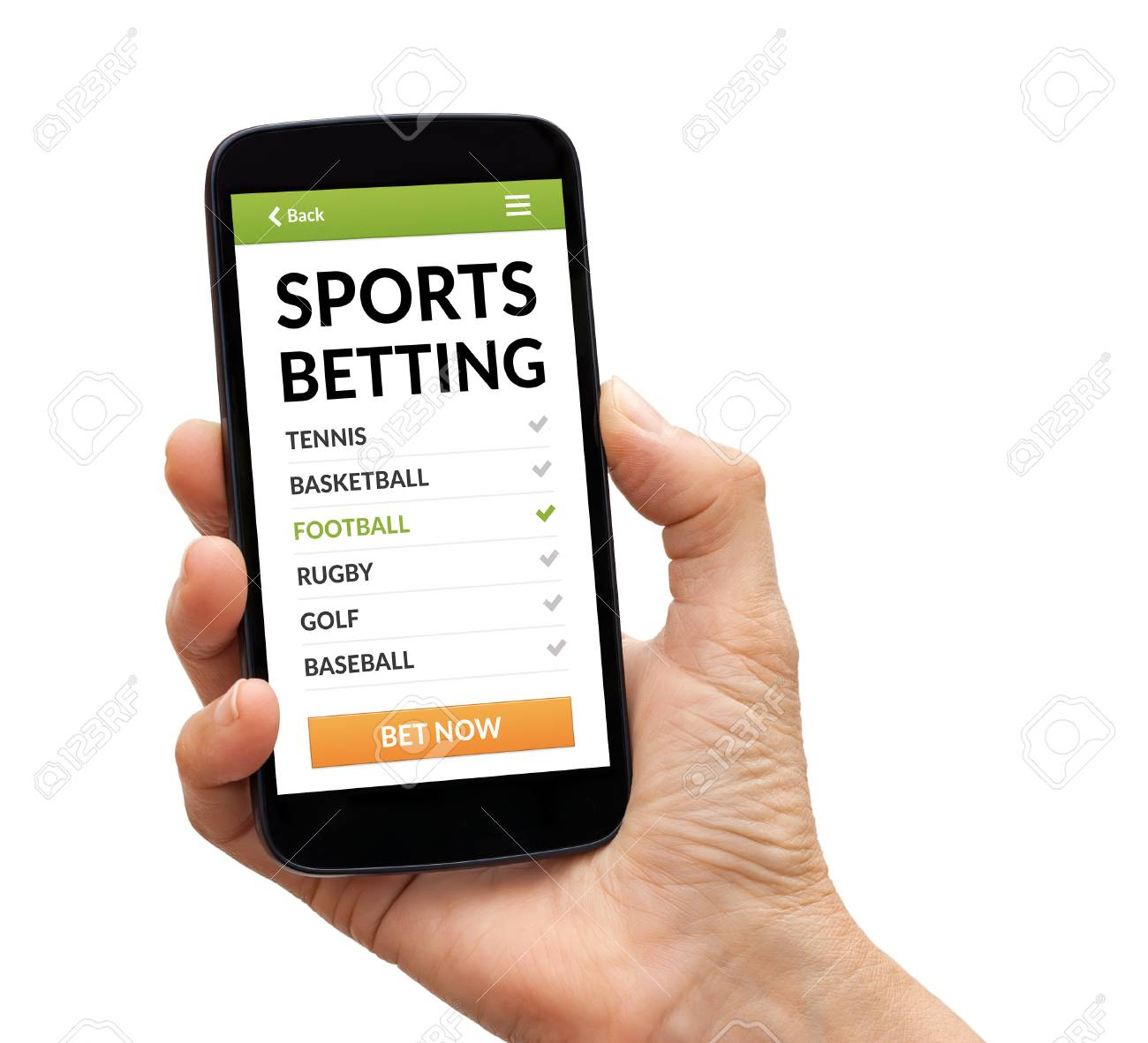 mobile sports betting screen