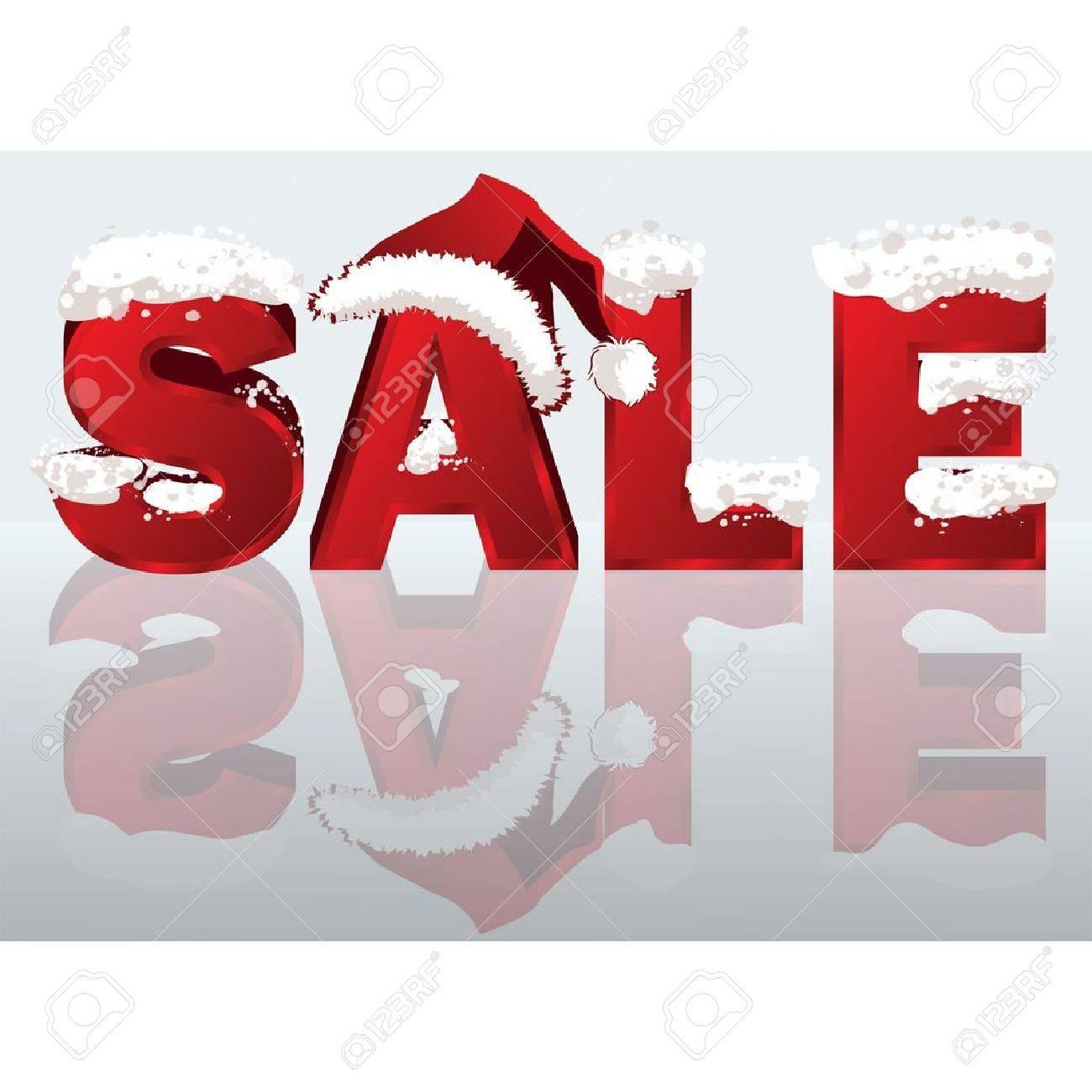 Winter sale banner in 3D image. vector illustration Stock Vector - 8543032