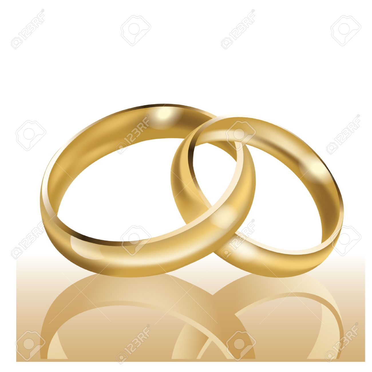 Wedding Rings Symbol Of Marriage And Eternal Love Royalty Free