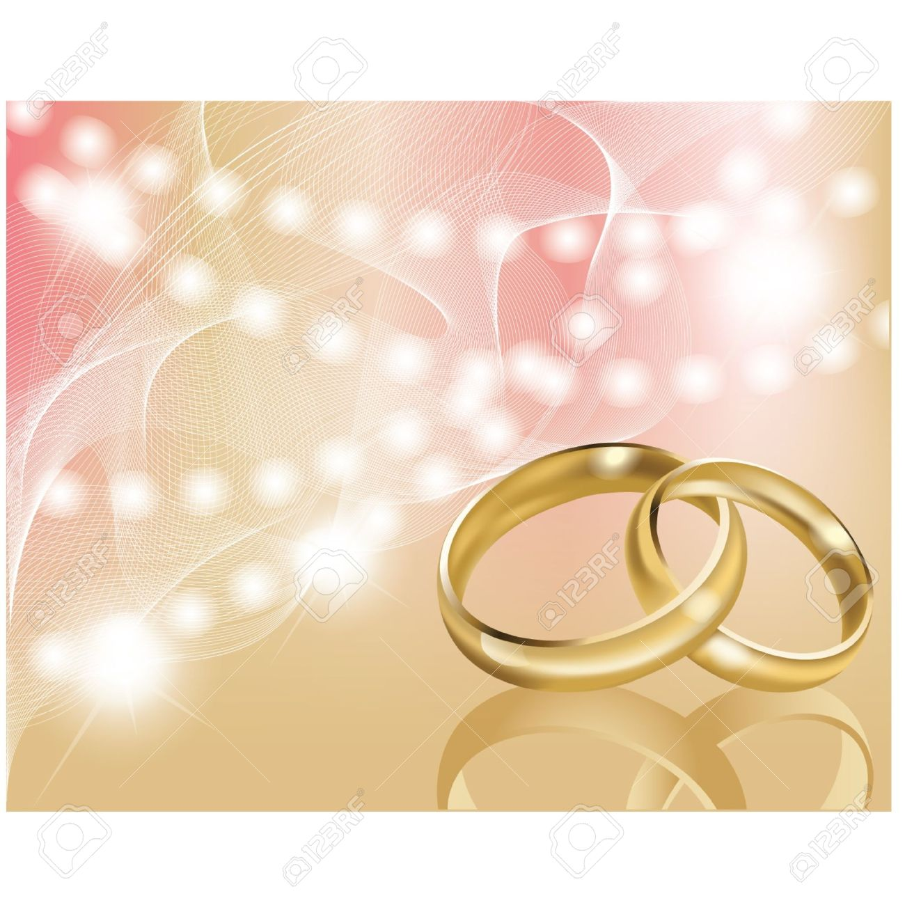 two wedding ring with abstract background royalty free cliparts