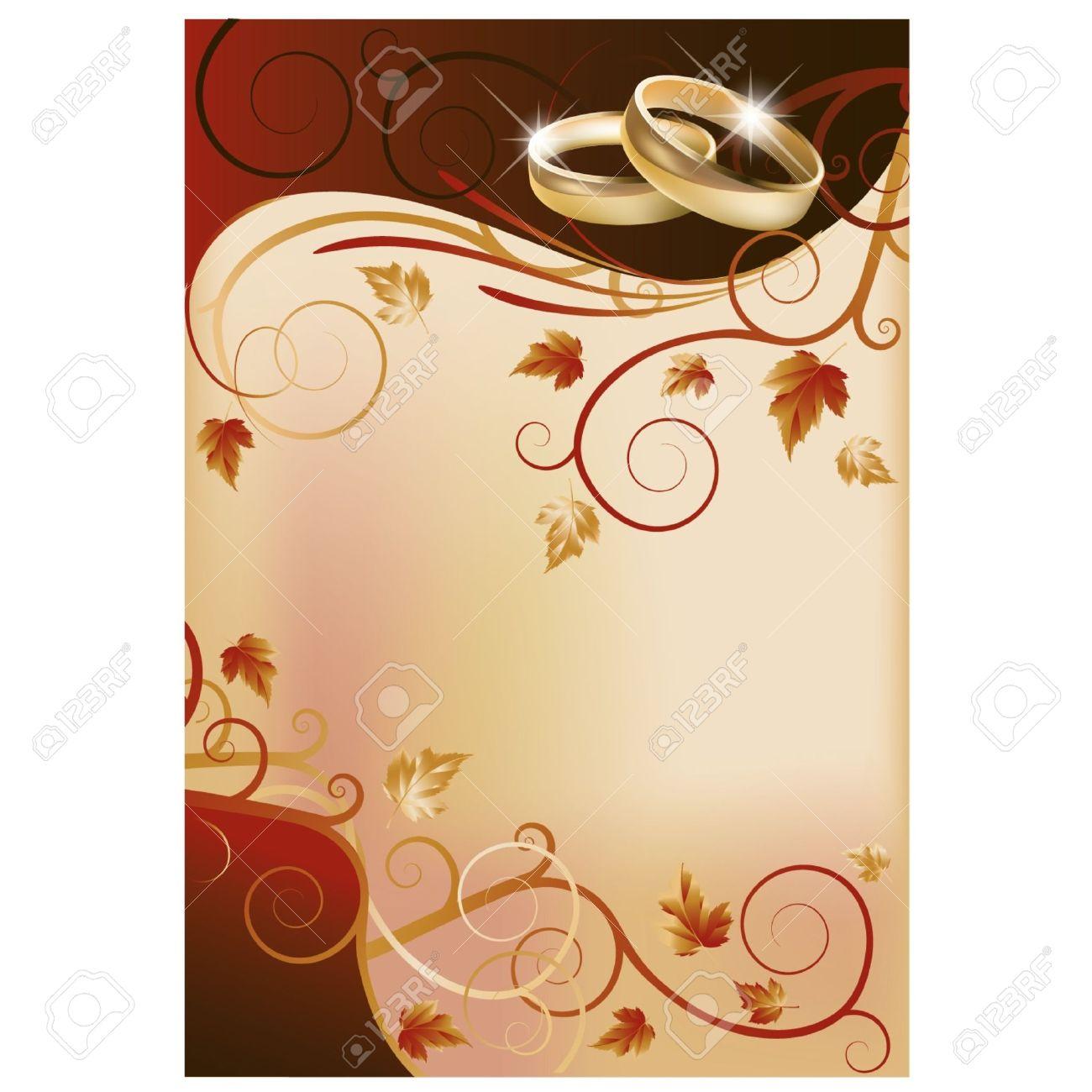 Autumn Wedding Invitation Card Royalty Free Cliparts, Vectors, And ...