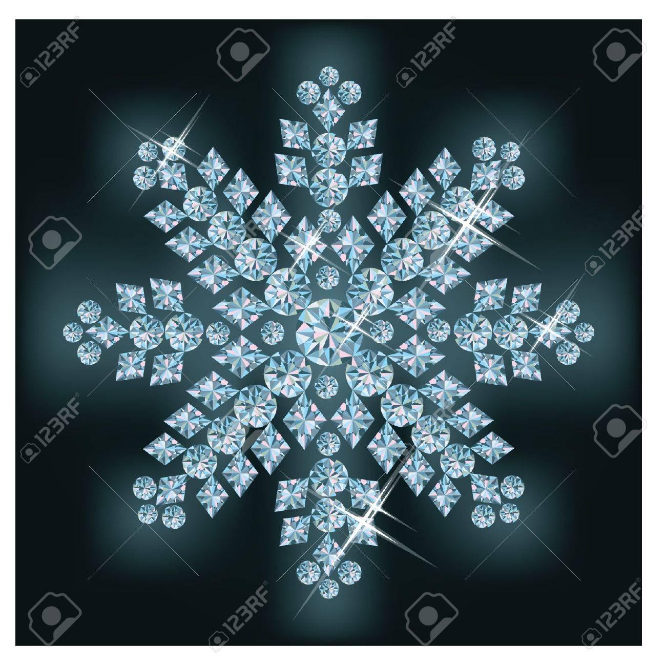 Diamond snowflake Stock Vector - 11437792