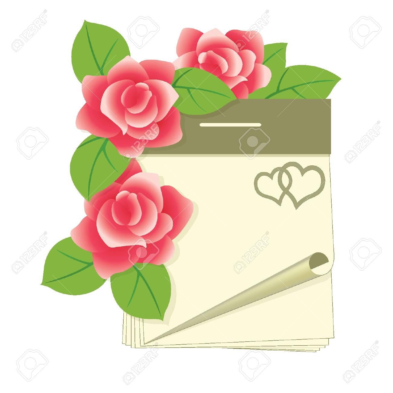 Valentines day calendar, vector illustration Stock Vector - 11882523