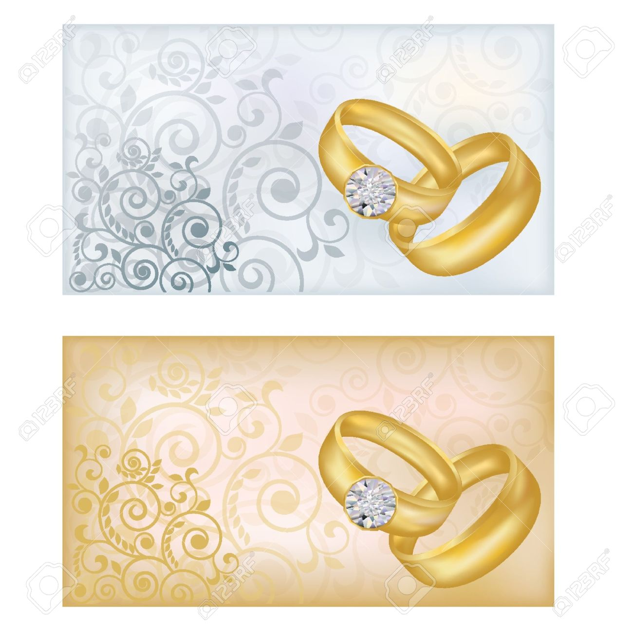 Two Wedding Banners, Vector Illustration Royalty Free Cliparts ...