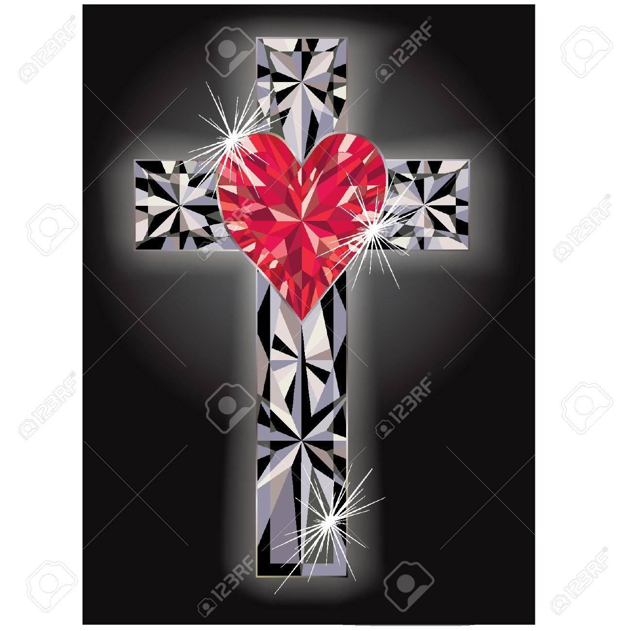 Diamond cross religious, vector illustration Stock Vector - 12792729
