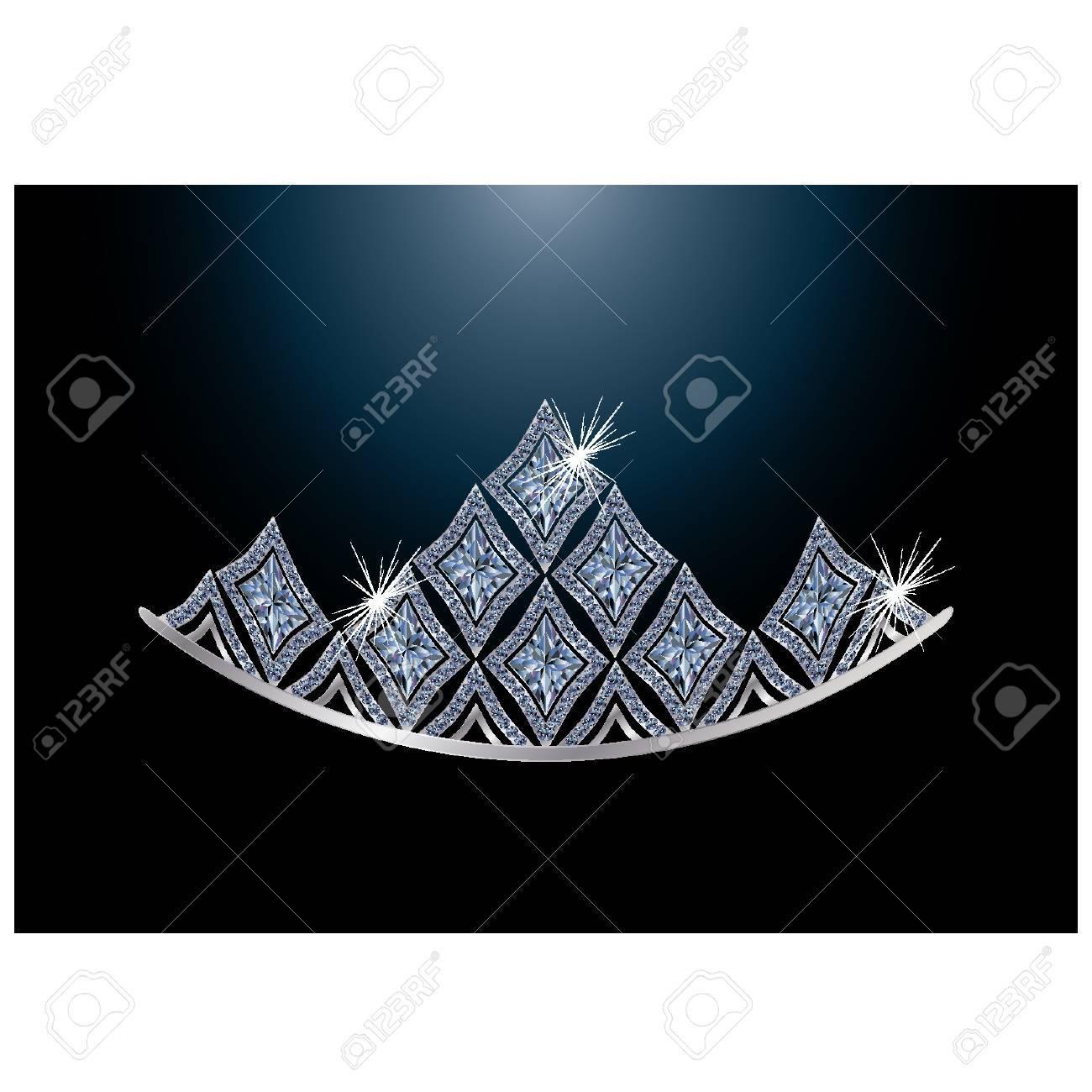 Diamond diadem, vector illustration Stock Vector - 13106772
