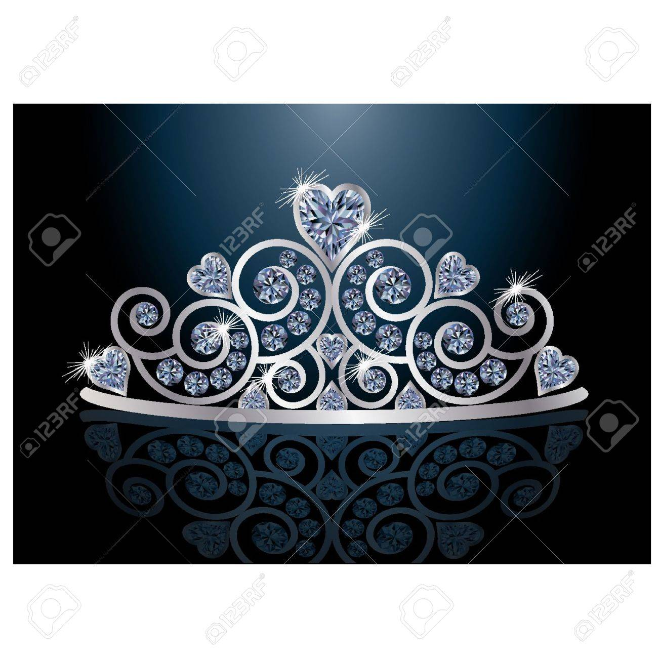 Tiara or diadem with reflection Stock Vector - 13330427