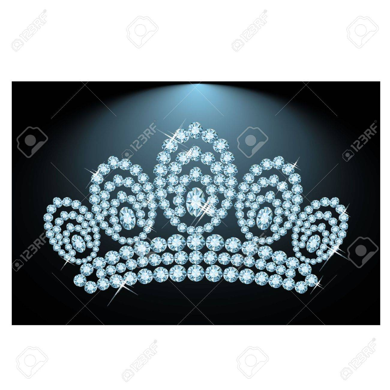 Diamond triada, vector illustration Stock Vector - 13490829