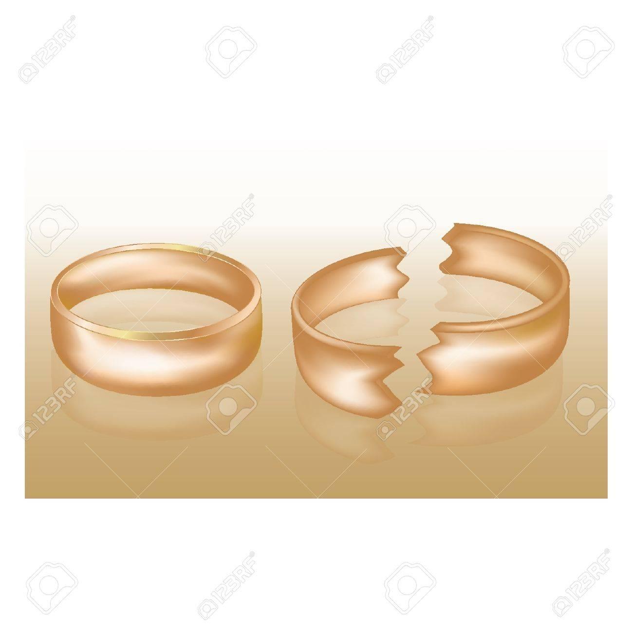 Divorce concept, vector illustration Stock Vector - 14198078
