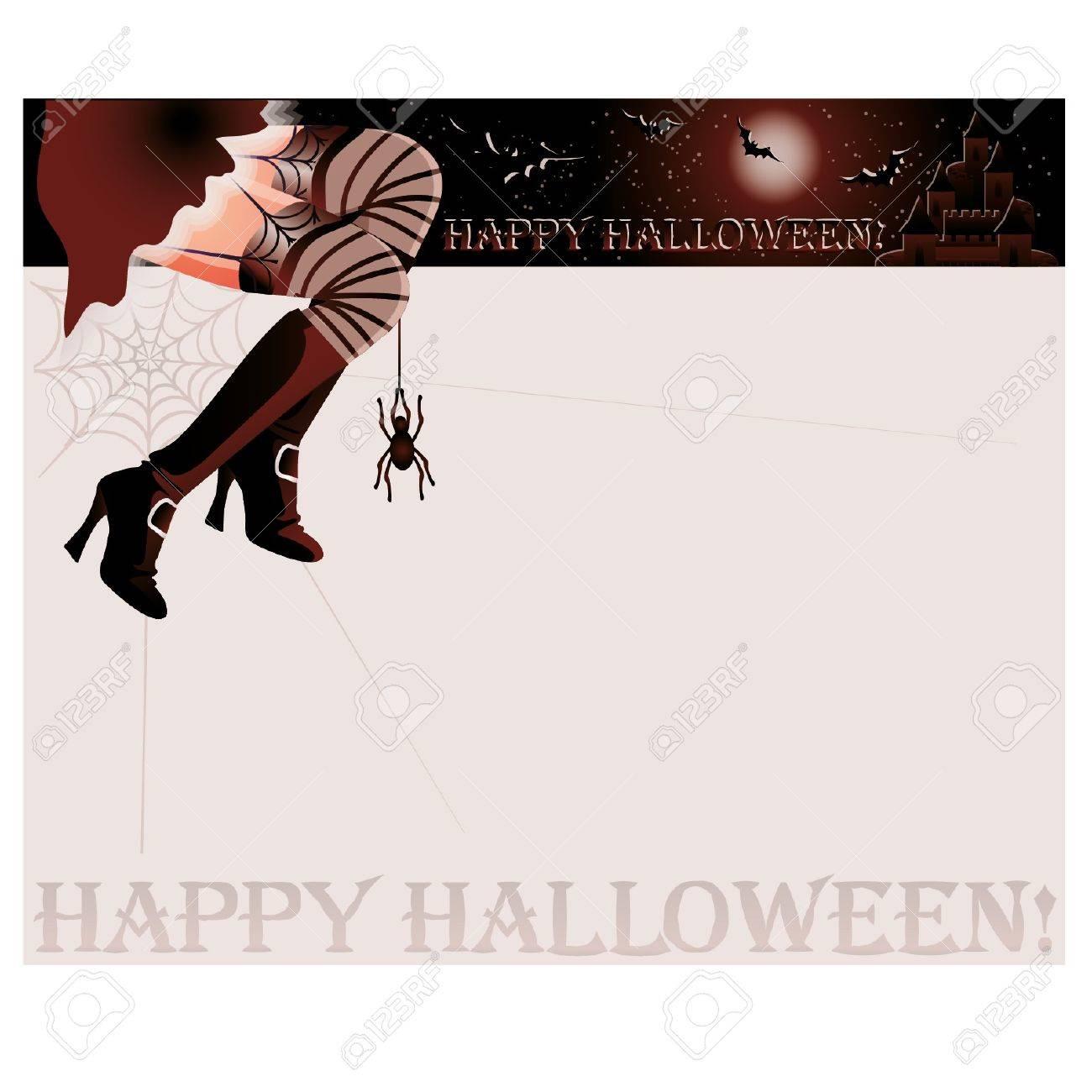 Happy halloween magic card,  illustration Stock Vector - 14991579